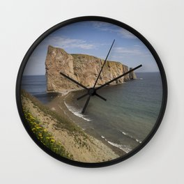 Le Rocher Percé, Gaspésie, Québec, Canada. Wall Clock