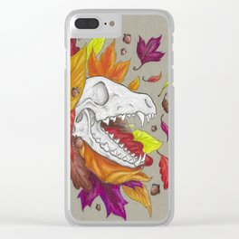 Fox Skull Clear iPhone Case