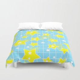 #Yellow #blue #stars Duvet Cover