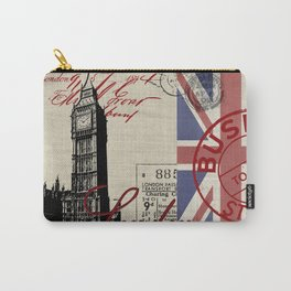 London Great Britain Big Ben Flag Collage Carry-All Pouch