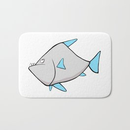 Scribble2Masterpiece - WARY PIRANHA fish! Bath Mat