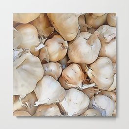 Garlic bulbs Metal Print