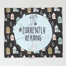 Currently Reading - Winter Bunny Throw Blanket