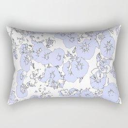 Blue Petunias Rectangular Pillow