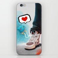 sneaker iPhone & iPod Skins featuring sneaker Love by Dominik Gottherr
