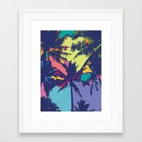 palm tree Framed Art Prints featuring Palm tree by PINT GRAPHICS