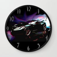 ferrari Wall Clocks featuring New Ferrari by JT Digital Art