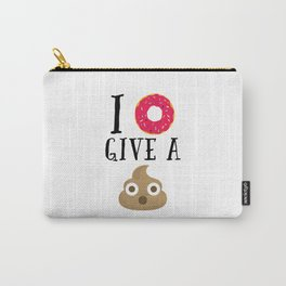 Donut Give A Sh*t Funny Quote Carry-All Pouch