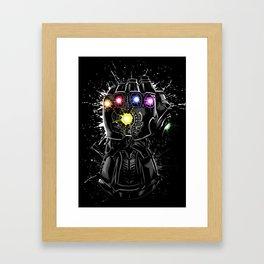 Infinity gems Framed Art Print