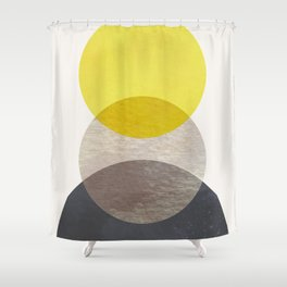 SUN MOON EARTH Shower Curtain