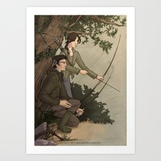 Katniss and Gale Art Print