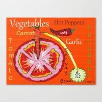vegetables Canvas Prints featuring Vegetables by Sartoris ART