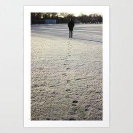 Trace in Snow Art Print