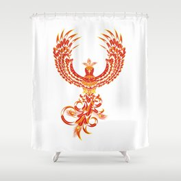 Mythical Phoenix Bird Shower Curtain
