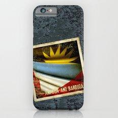 Grunge sticker of Antigua and Barbuda flag iPhone 6s Slim Case
