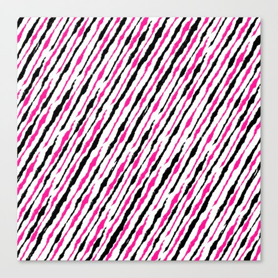 Pink and Black Pattern Canvas Print