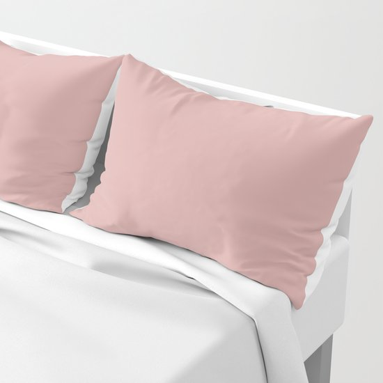 Rose Blush Pink D9A6A1 Solid Color Block by beautifulhomes