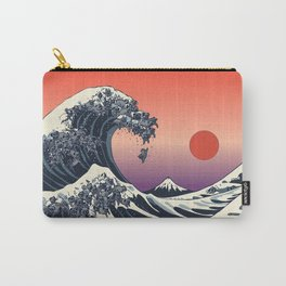 The Great Wave of Black Pug Carry-All Pouch