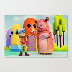 Lilly and Momo Canvas Print