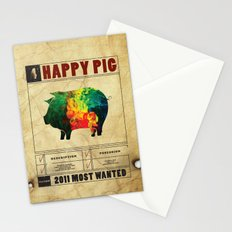 Happy pig Stationery Cards