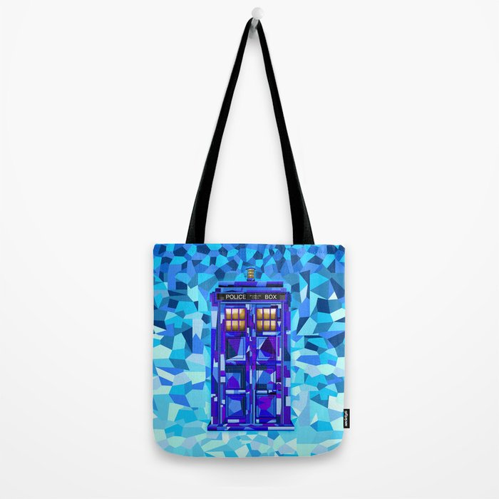 Phone booth Tardis doctor who cubic art iPhone 4 4s 5 5c 6, pillow case, mugs and tshirt Tote Bag
