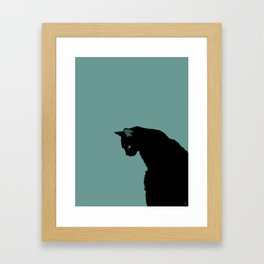 Blue Cat Framed Art Print