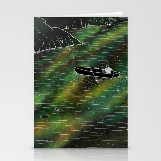 The Space Ship Stationery Cards