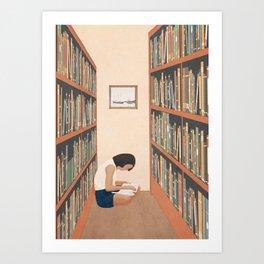 Getting Lost in a Book Art Print