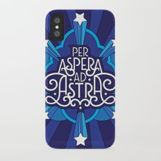 Through Hardship To The Stars iPhone X Slim Case