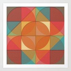 Basic shapes Art Print