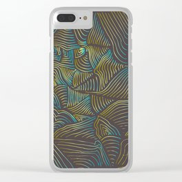 LINES RETRO Clear iPhone Case