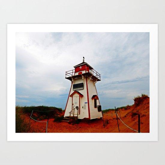 Crow on the Lighthouse Art Print