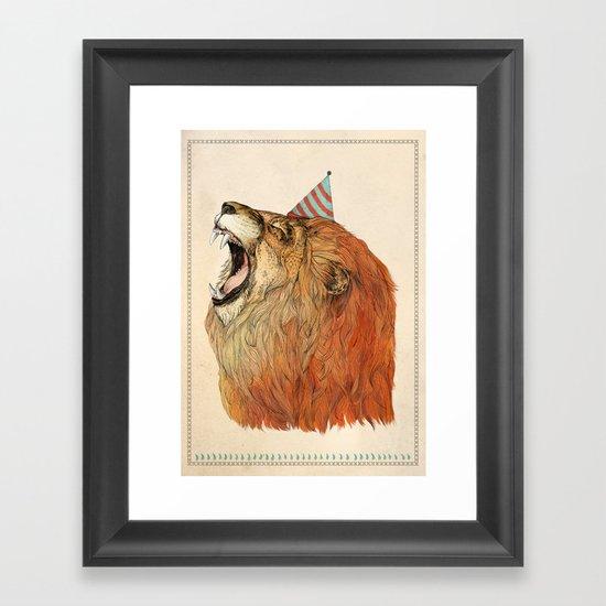 Birthday Lion Framed Art Print