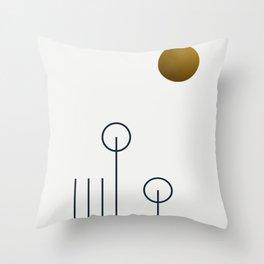 Soir 04 //  ABSTRACT GEOMETRY MINIMALIST ILLUSTRATION Throw Pillow