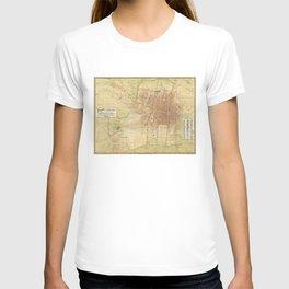 Map of Mexico City from 1907 (Plano de la Ciudad de Mexico) T-shirt