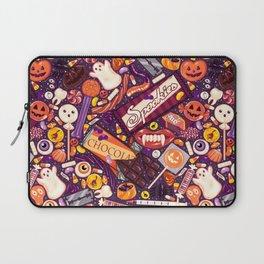 Creepy Halloween Candy on Purple Laptop Sleeve