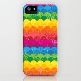 Waves of Rainbows iPhone Case