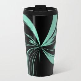 Light Blue Swirl w/Black Background Travel Mug