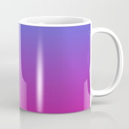 Vibrant Blue, Purple & Pink Gradient Color Coffee Mug