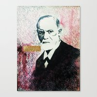 freud Canvas Prints featuring Freud by smercadante