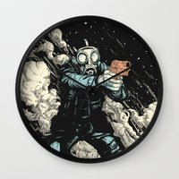 attack on titan Wall Clocks featuring Attack! by carbine