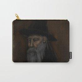 Dark Wizard portrait framed, black background Carry-All Pouch