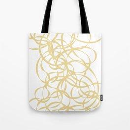 Golden Ribbons - Flow Tote Bag