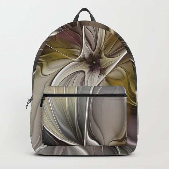 Floral Abstract, Fractal Art Backpack