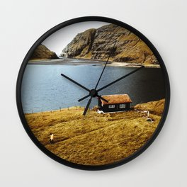 on the road to saksun Wall Clock
