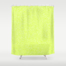 Melange - White and Fluorescent Yellow Shower Curtain