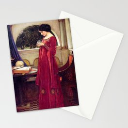 John William Waterhouse The Crystal Ball Stationery Cards