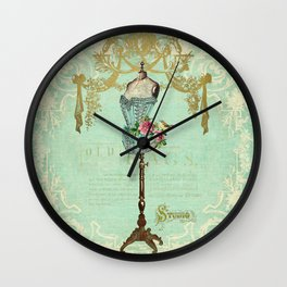 Mannequin Rose Wall Clock