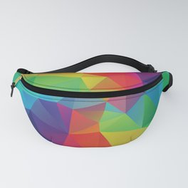 Colorful polygonal background Fanny Pack