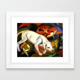 "Franz Marc ""Three animals (dog, fox and cat)"" Framed Art Print"